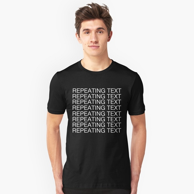 Repeated texts design